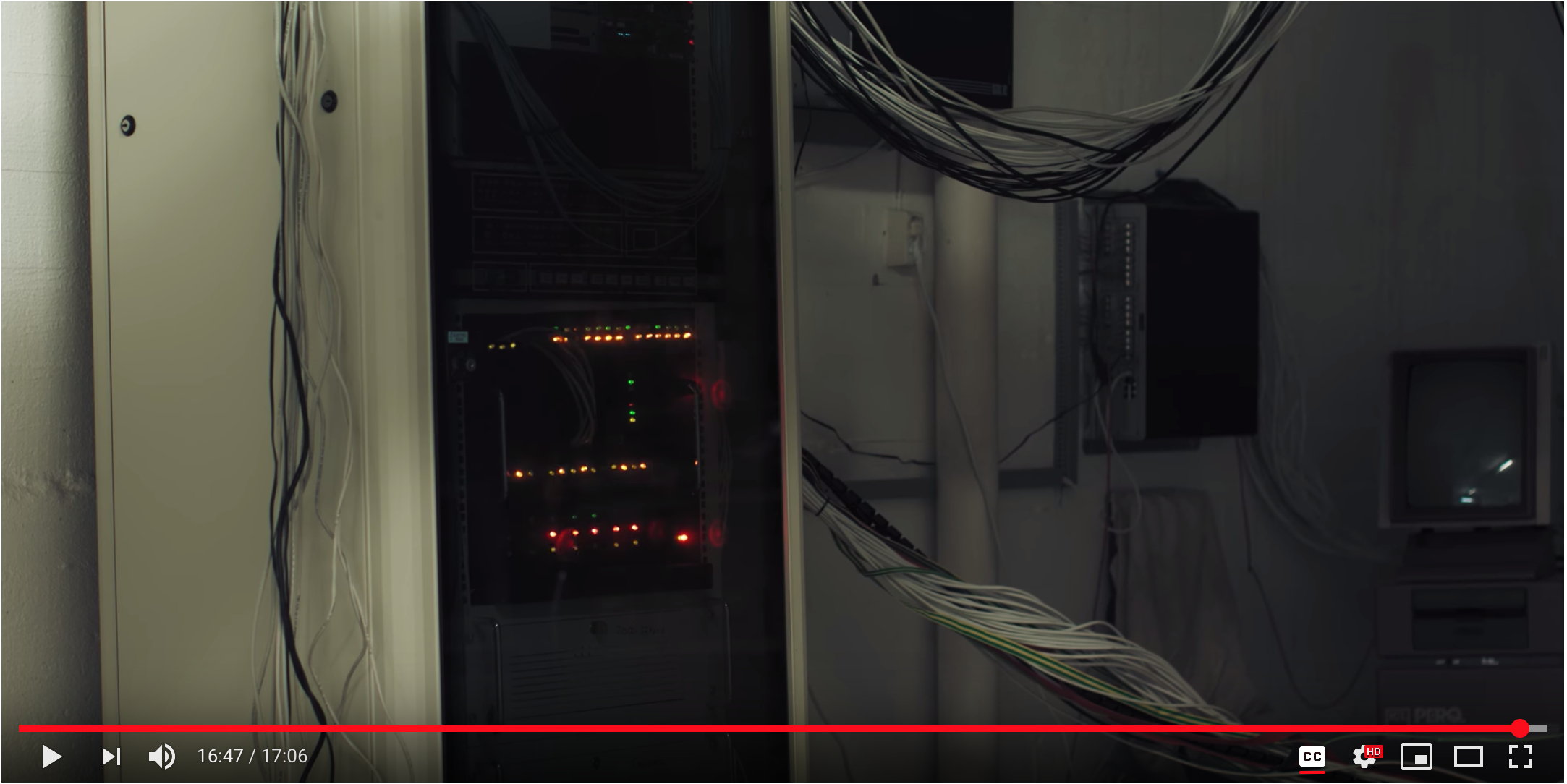The mainframe (screenshot from the movie)
