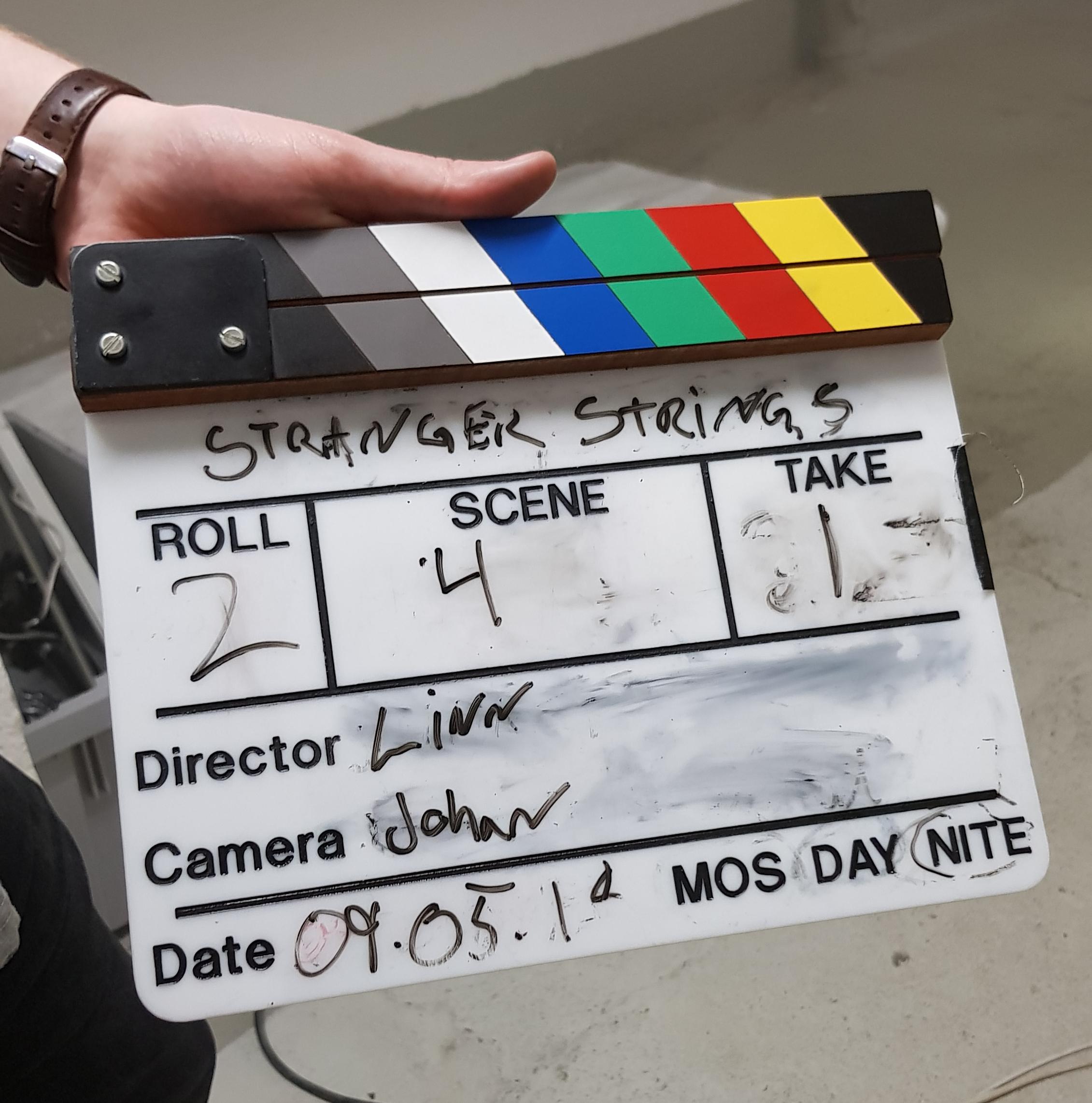 Picture from Stranger Strings movie set. Photo: Rustam Mehmandarov